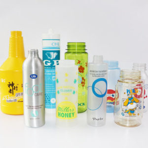 Plastic watter bottles printing sample