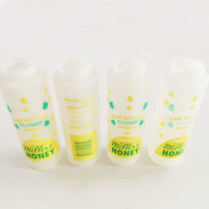 LDPE Honey bottle screen printing