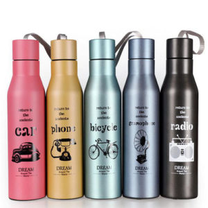 Stainless steel water bottles screen printing